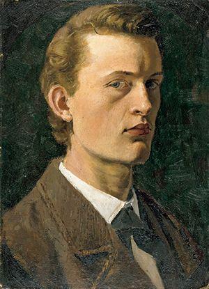 ムンク「自画像」(1882年)