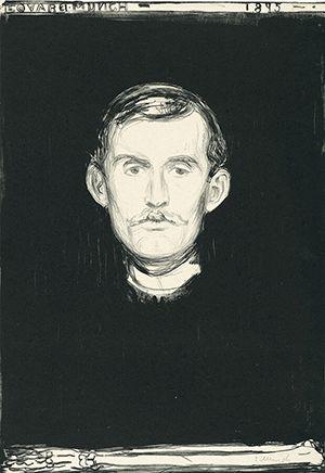ムンク「自画像」(1895年)