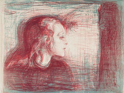 ムンク「病める子Ⅰ」(1896年)