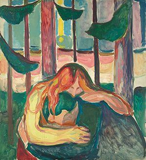 ムンク「森の吸血鬼」(1916-18年)