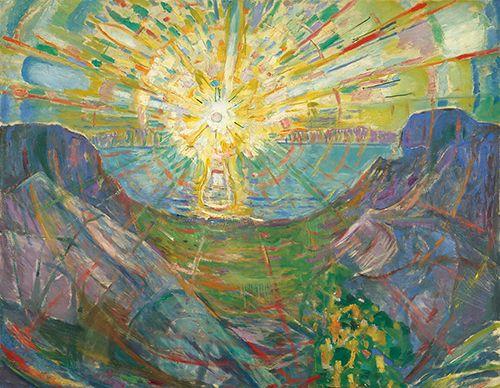 ムンク「太陽」(1910-13年)