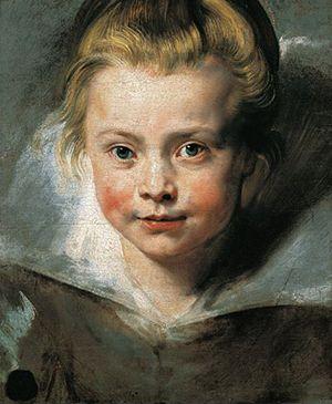 ルーベンス「クララ・セレーナ・ルーベンスの肖像」1615-16年・油彩
