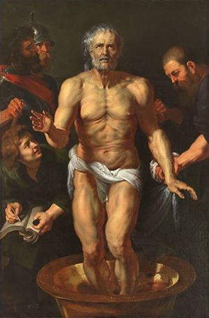 ルーベンス「セネカの死」1615-16年・油彩