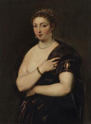 ルーベンス「毛皮を着た若い女性像」1629~30頃・油彩